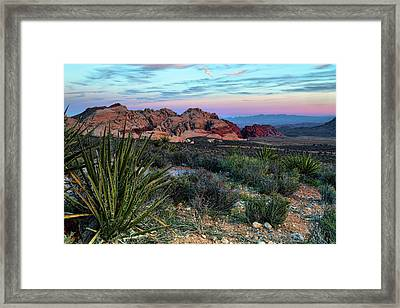Red Rock Sunset II Framed Print