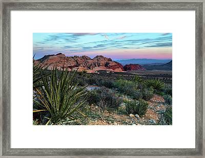 Red Rock Sunset II Framed Print by Rick Berk