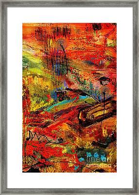 Red Rock Trail Framed Print