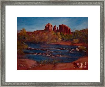 Red Rocks Of Sedona Framed Print by Ruth Ann Sturgill