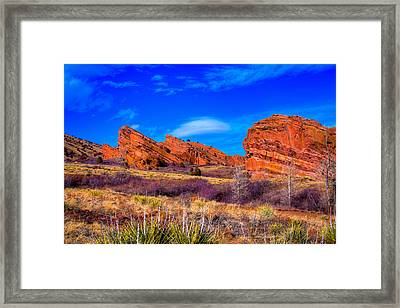 Red Rocks Park Colorado Framed Print by David Patterson