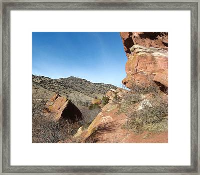 Red Rocks Park Colorado Framed Print by Gretchen Wrede