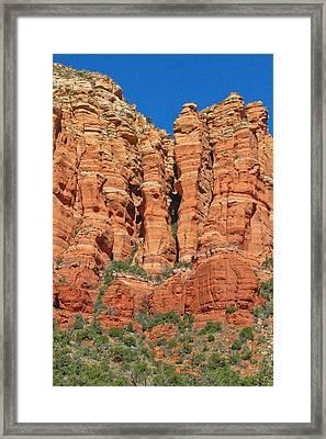 Red Rocks Framed Print by Wayne Stabnaw