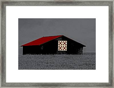 Red Roof  Framed Print by Kris Napier