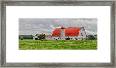 Red Roofed Barn Framed Print by Brian Mollenkopf