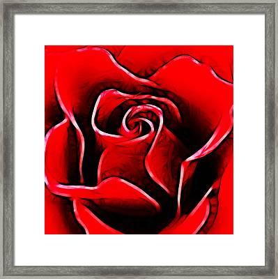 Red Rose Framed Print by Sharon Lisa Clarke