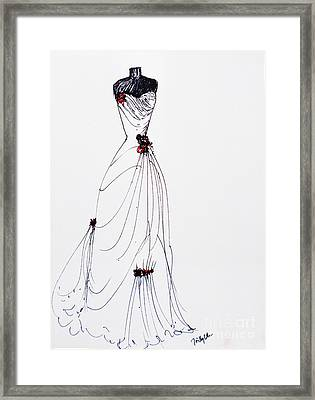 Red Rose Framed Print by Trilby Cole