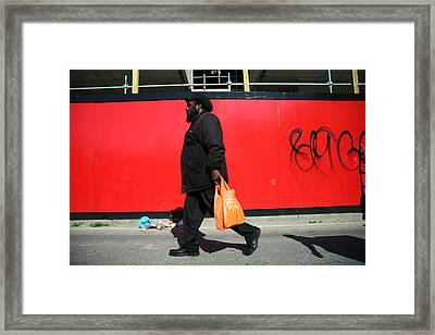 Red Routes Framed Print by Jez C Self
