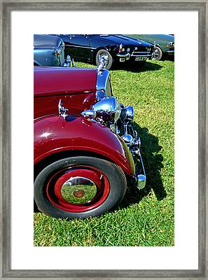 Red Rover Come Over Framed Print by Larry Bishop