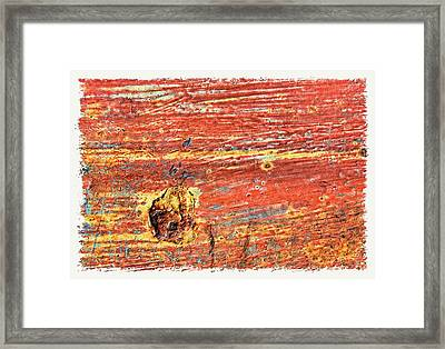 Red Rusted Steel Painted Background Framed Print
