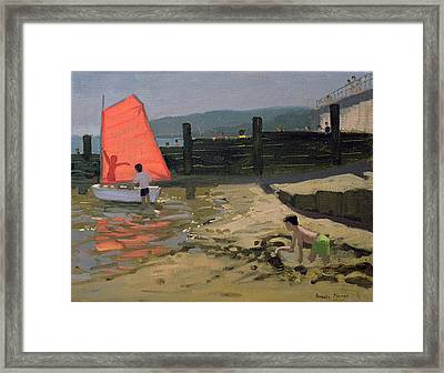 Red Sail Isle Of Wight Framed Print