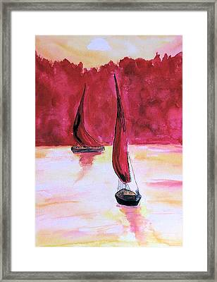 Red Sails Framed Print