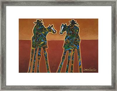 Red Sand Framed Print by Lance Headlee