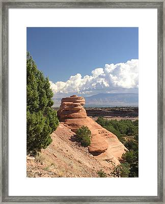 Red Sandstone Sclupture Framed Print