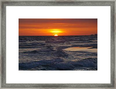 Red Skies At Night Framed Print by Charles Warren