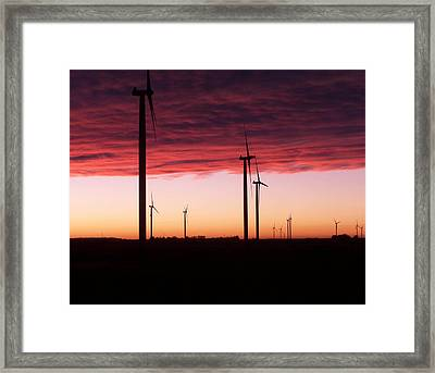 Red Skies Framed Print by Jim Finch