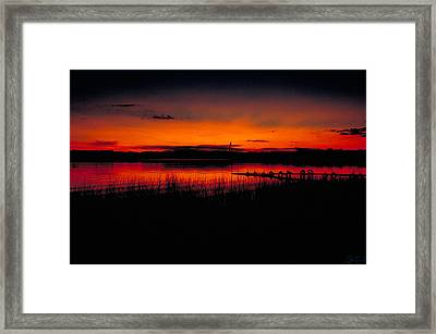 Red Skies Framed Print