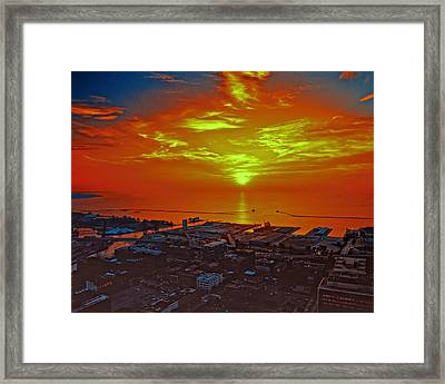 Red Sky At Night A Sailors Delight Framed Print