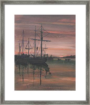 Red Sky At Night Framed Print by Anthony Ross