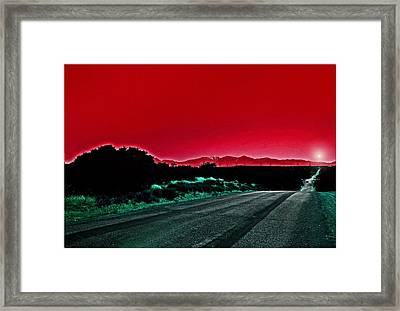 Red Sky At Night Framed Print by Chet King