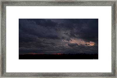 Red Sky In The Morning Framed Print by Debbie Portwood