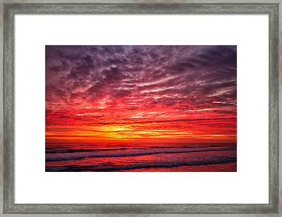 Red Sky In The Morning Framed Print by Steven Wilson