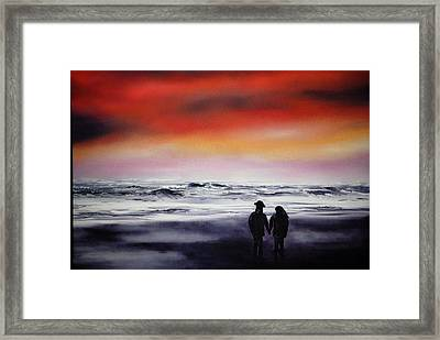 Red Sky Framed Print by Johanna Larson