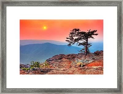 Red Sky Over Ravens Roost Fx Framed Print by Dan Carmichael