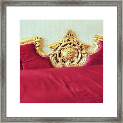 Red Sofa Framed Print