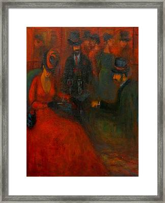 Red Soiree  Framed Print