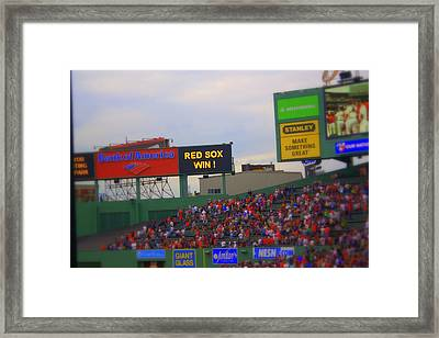 Red Sox Win Framed Print by Greg DeBeck