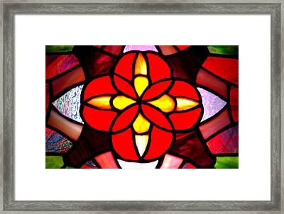 Red Stained Glass Framed Print by LeeAnn McLaneGoetz McLaneGoetzStudioLLCcom