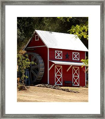 Red Star Barn Framed Print