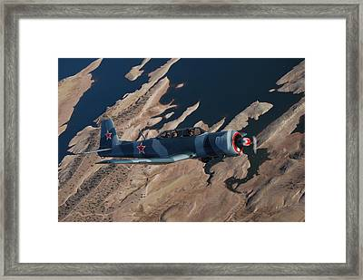 Red Stars Over Lake Pleasant Framed Print by Betsy Aguirre