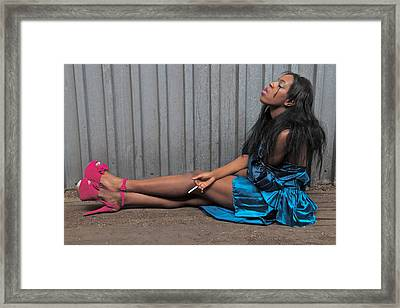 Framed Print featuring the photograph Red Stilettos by Alice Gipson