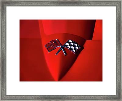Red Stingray Badge Framed Print