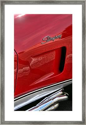 Red Stingray Framed Print by Gordon Dean II