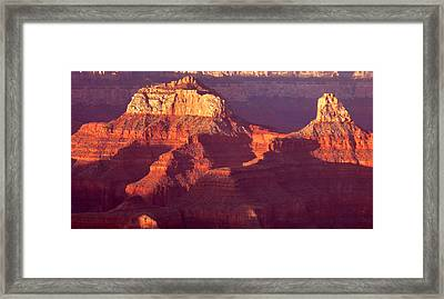 Framed Print featuring the photograph Red Stones At Sunset Grand Canyon by Rima Biswas