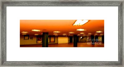 Framed Print featuring the photograph Red Subway by Andy Prendy