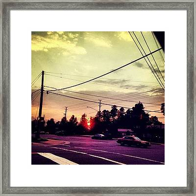 #red #sun Framed Print by Katie Williams