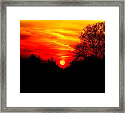 Red Sunset Framed Print by Jasna Buncic