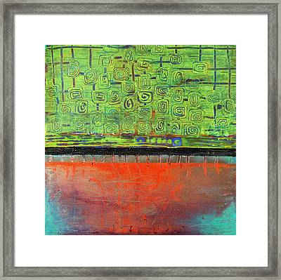 Framed Print featuring the painting Red Sunset by Lolita Bronzini