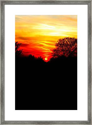 Red Sunset Vertical Framed Print by Jasna Buncic