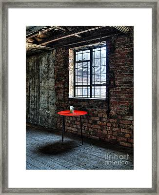 Red Table Framed Print by Steev Stamford