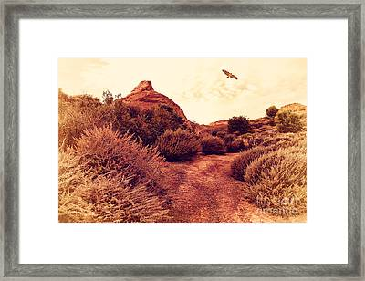 Red-tailed Hawk At Coyote Hills California . 7d11018 Framed Print by Wingsdomain Art and Photography