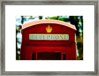 Red Telephone Box Framed Print by Chris Thaxter