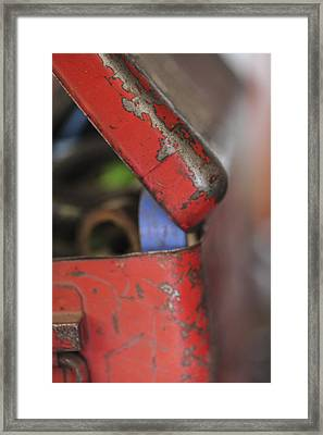 Framed Print featuring the photograph Red Toolbox. by Carole Hinding