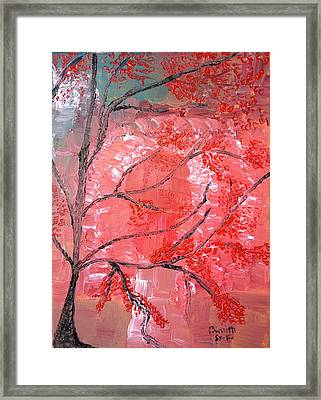 Red Tree Framed Print by Pretchill Smith