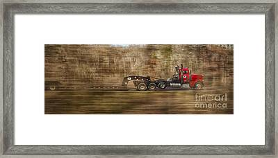 Framed Print featuring the photograph Red Truck In North Carolina by Jim Moore