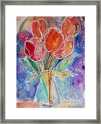 Red Tulips Framed Print by M C Sturman